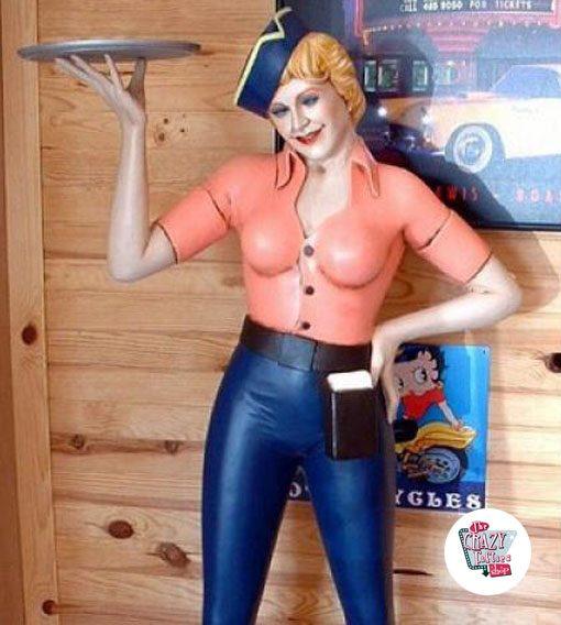 Figura patins Decoração Bandeja Waitress