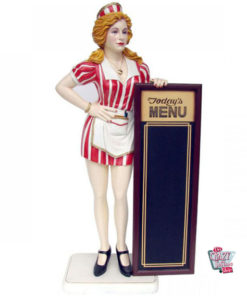 Menu Cameriera Porta Figura Decoration