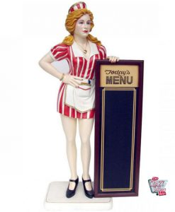 Waitress Porta Figure Decoration Menu