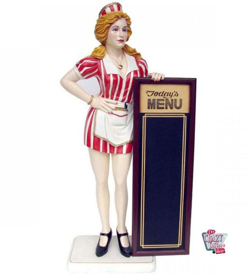 Servitøren Porta Figur Dekor Meny