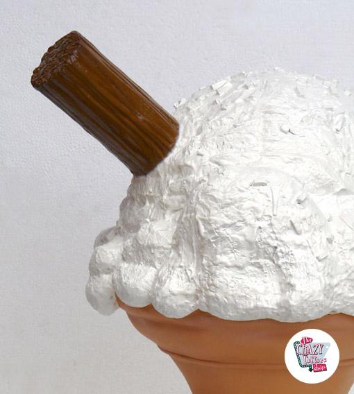 Figura decoração do cone Coco Médio Creme