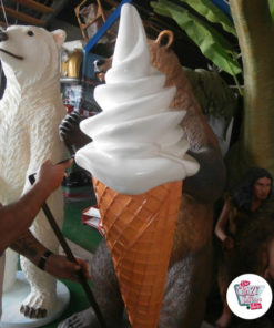 Ice Cream Sundae Cone Figur Wall Decoration