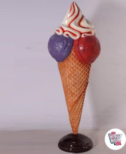 Figur Dekoration Cone Flavors Ice Cream 3 Large