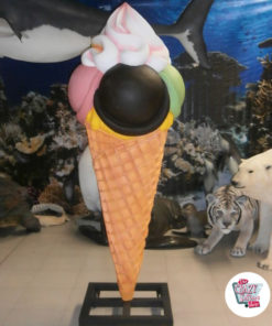 Figure Decoration Cone Flavors Ice Cream