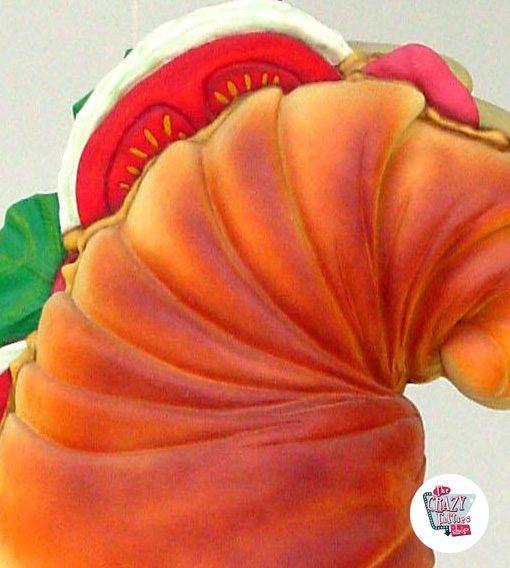Figura Decoração Croissant com o menu