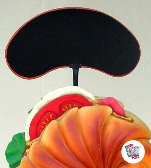 Figur Decoration Croissant med menu