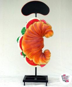 Figur Dekor Croissant med meny