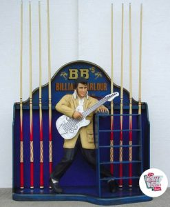Figura Decoración Elvis Guitarra Billar
