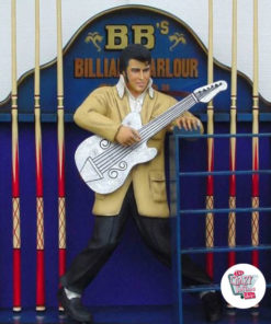 Figure Décoration Elvis guitare billard