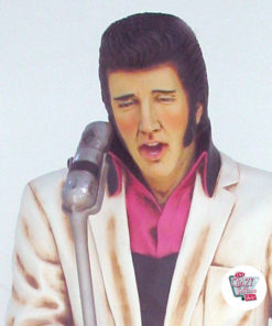Figure Decoration Singing Elvis American White