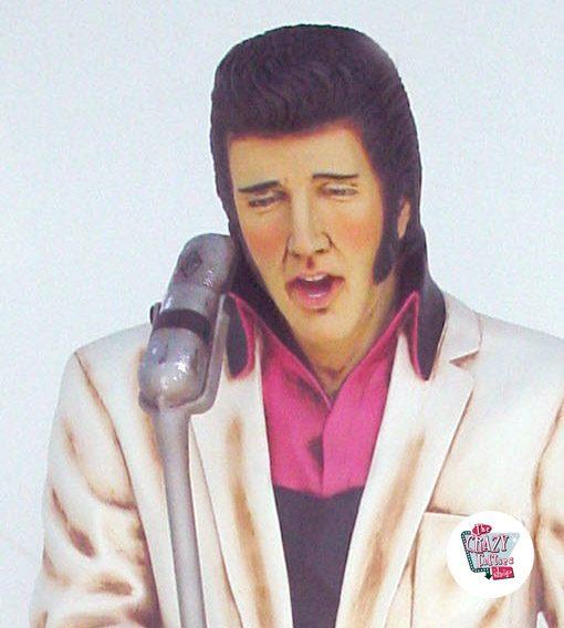 Figura Decoração Canto Elvis American White
