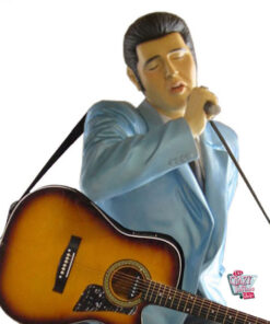 Figure Décoration Elvis Chanter Avec Guitar
