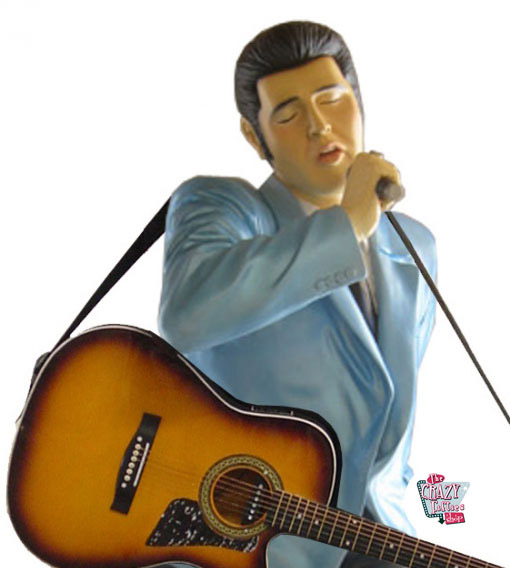 Figur Dekoration Elvis Singing Med Guitar