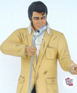 Figure Décoration Elvis Chanter Avec Micro