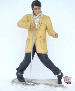 Figur Dekoration Elvis Singing Med Micro