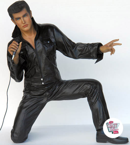 Figur Dekoration Singing Elvis Knælende