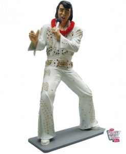Figure Décoration Chanter Elvis Blanc Costume