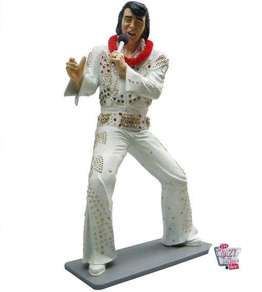 Figur Dekor Singing Elvis hvit dress
