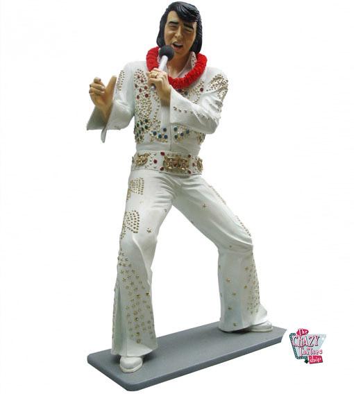 Decoração Figura Cantar terno Elvis Branco