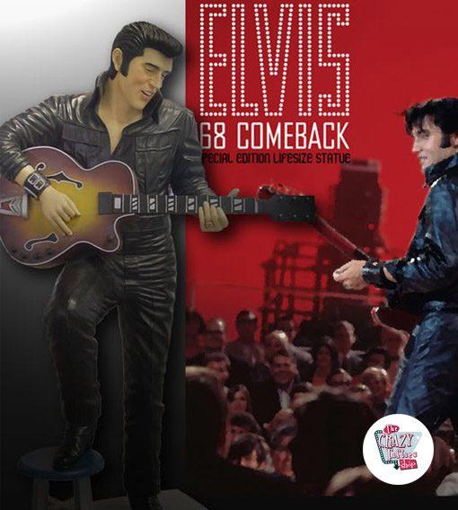 Decoração Figura Stool e Elvis com guitarra