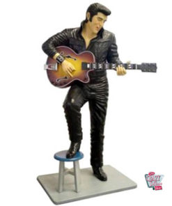 Figure Decoration Stool and Elvis With Guitar