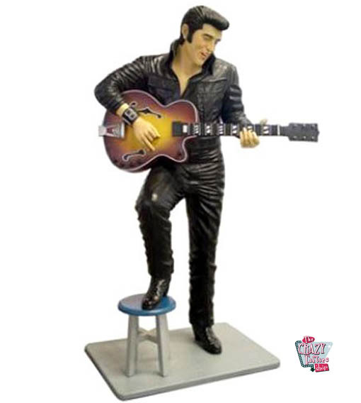 Figur Dekoration Stool og Elvis med Guitar