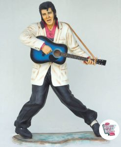 Figura Decoración Elvis Guitarra Azul