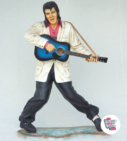 Figur Dekoration Elvis Blå Guitar
