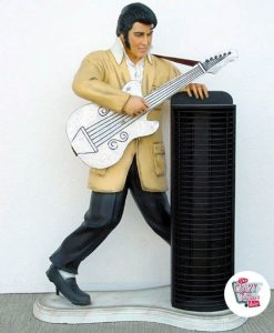 Figure Decoration Porta Elvis Guitar CDs