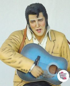 Figur Dekor Sitting Elvis Guitar