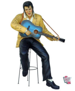 Figure Décoration Sitting Elvis guitare