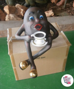 Figur Decoration Coffee Bean med Cup