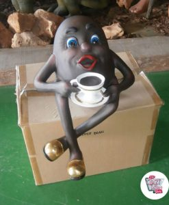 Figura Decoration Coffee Bean con la Coppa