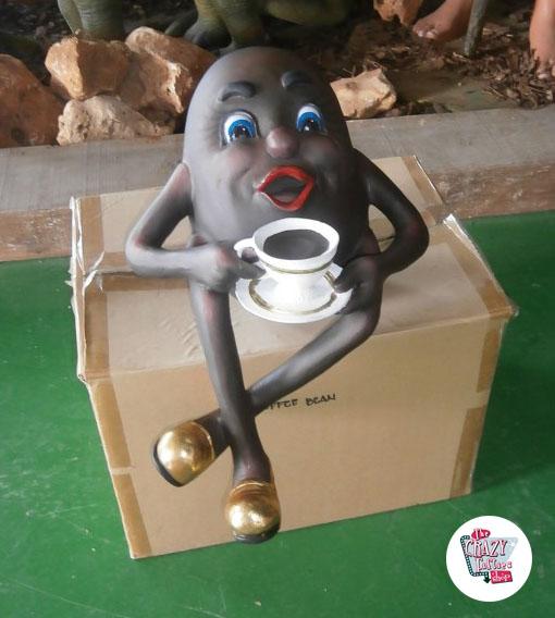 Figur Dekor Coffee Bean med Cup