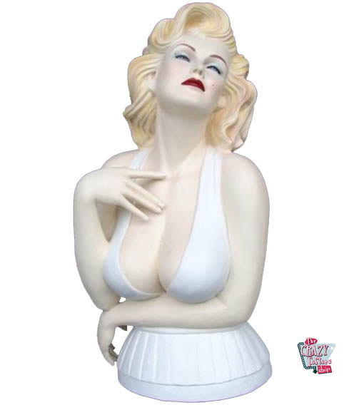 Figura Decoração Marilyn Bust