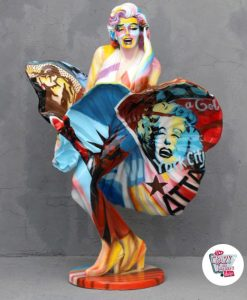 Figura Decoración Marilyn Falda Pop