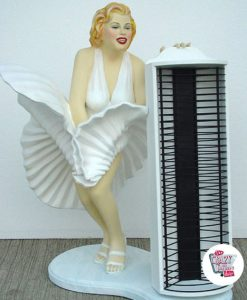 Figura Decoración Marilyn Porta CDs