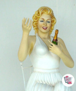 Figur Dekoration Marilyn Sitting