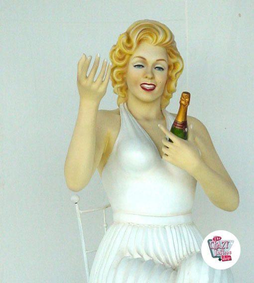 Figura Decoração Marilyn Sitting