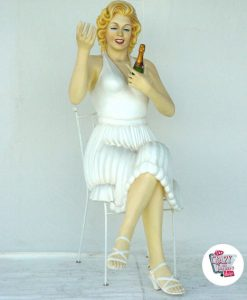 Figura Decoración Marilyn Sentada