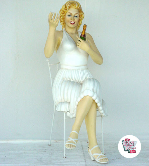 Figur Dekor Marilyn Sitting