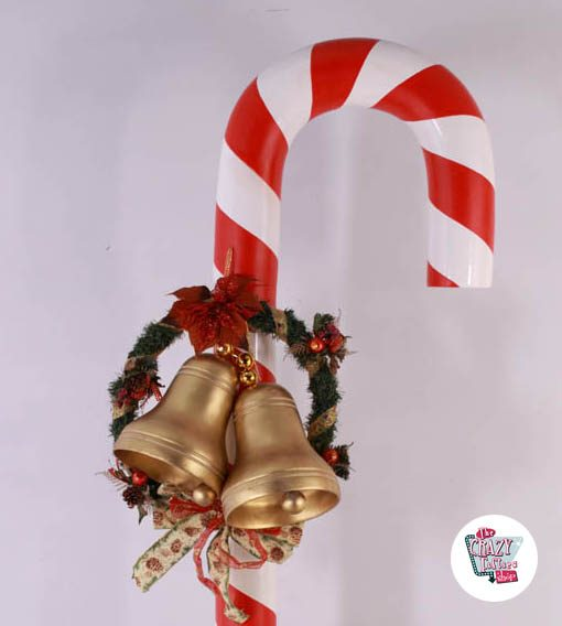 Figura Decoración Navidad Bastón Caramelo Gigante