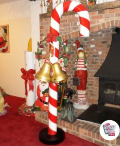 Figur Decoration Christmas Stick Giant Caramel