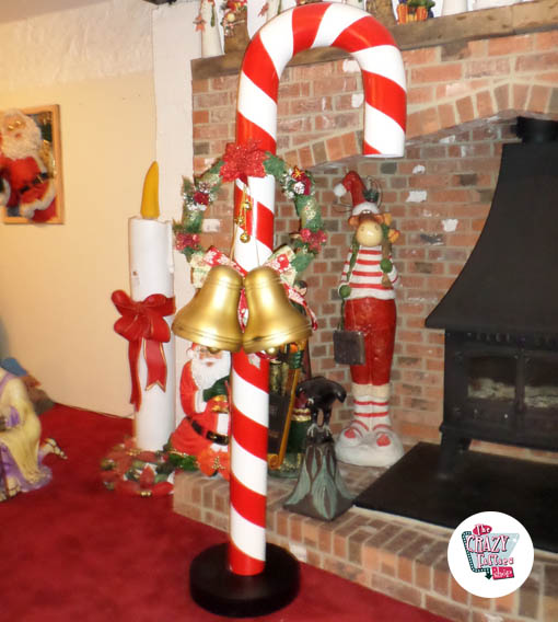 Addobbi Natalizi Giganti.Figura Decoracion Navidad Baston Caramelo Gigante