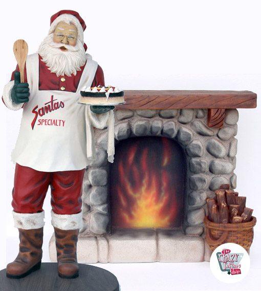 Figura Decoración Navidad Chimenea