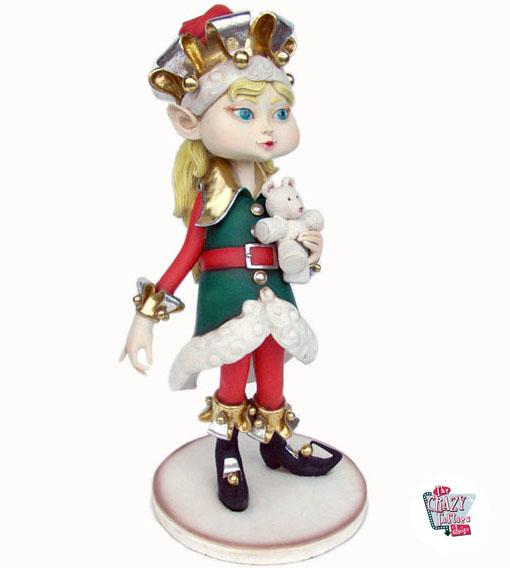 Figura Decoración Navidad Elfa Duende