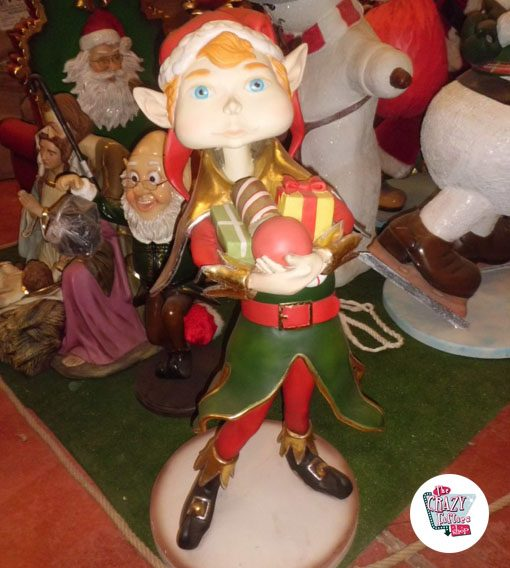 Figura Decoración Navidad Elfo Duende