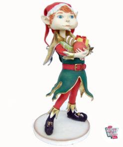 Figura Decorazione Elfo Natale elfo