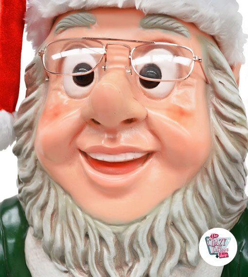 Figura Decoración Navidad Elfo con Campana y Bandeja