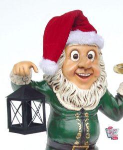 Figura Natale Decorazione Elfo con Lanterna